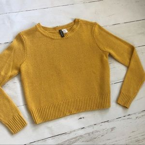 H&M Mustard Yellow fall winter sweater top